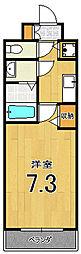 アスヴェル京都壬生WEST207[2階]の間取り