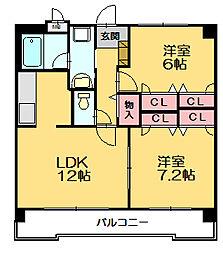 ライフステーション柚須[2階]の間取り