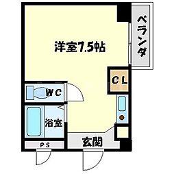 ハイムタケダT5[3階]の間取り