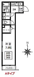 仮称)小手指4丁目新築AP 2階1Kの間取り