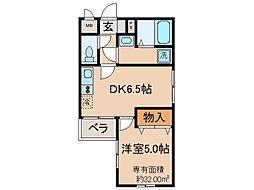 京都府京都市山科区音羽西林の賃貸マンションの間取り
