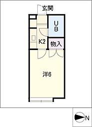 エレガンスSAWADA[1階]の間取り