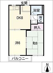 コーポ梅村[1階]の間取り