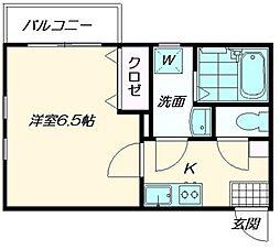 クレフラスト香椎駅東2A棟[203号室]の間取り