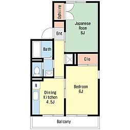 フジヴェール2番館[2階]の間取り