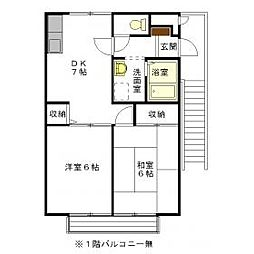 仲井ハイツ[1階]の間取り