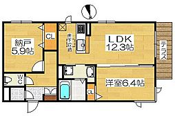 仮称堺市堺区シャーメゾン五月町[1階]の間取り