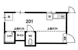 東京都北区赤羽西6丁目の賃貸アパートの間取り