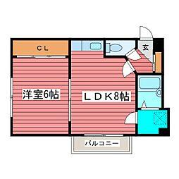 岸塚マンション[1階]の間取り
