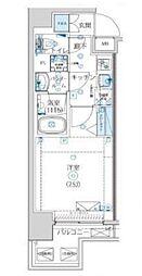 都営大江戸線 清澄白河駅 徒歩14分の賃貸マンション 5階1Kの間取り