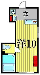 ayase212 2階ワンルームの間取り