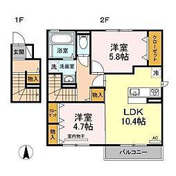 D−room南吉田(仮)[C201 号室号室]の間取り