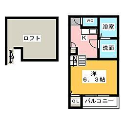 ソレイユ中村日赤[1階]の間取り