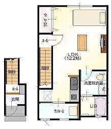 D-BOX 村井[202号室]の間取り