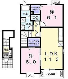 [大東建託]メゾン・デ・エレーヌ (三沢市)[2階]の間取り