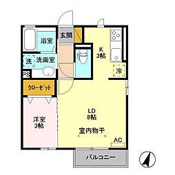 (仮)D-room藤岡[101号室]の間取り