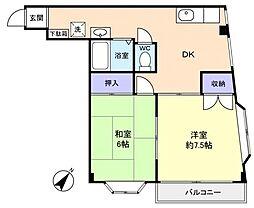 越塚ビル[3階]の間取り