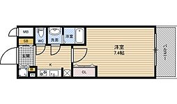 W−STYLE新大阪[4階]の間取り