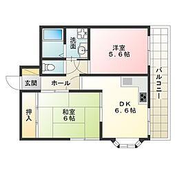 大阪府大阪市阿倍野区相生通1丁目の賃貸マンションの間取り