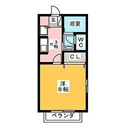 ア−トパ−ク大和Ⅱ[2階]の間取り