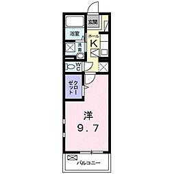 JR紀勢本線 紀和駅 徒歩2分の賃貸マンション 1階1Kの間取り
