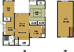 [一戸建] 鳥取県米子市榎原 の賃貸【/】の間取り