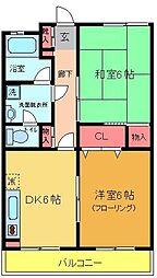 綾瀬リージェントマンション[402号室]の間取り