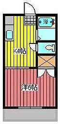 ハイム中村[2階]の間取り