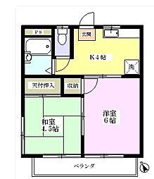 ヤマジンハイツIII[2階]の間取り