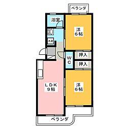 諏訪台マンション[2階]の間取り