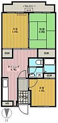 マンション紺利II[305号室]の間取り