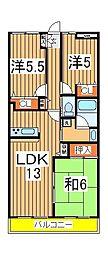 レジデンス柏[5階]の間取り