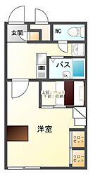 長野県上田市下之郷の賃貸アパートの間取り