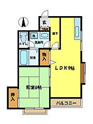 埼玉県さいたま市中央区本町東2丁目の賃貸マンションの間取り