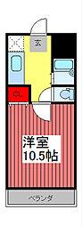 アーケティックマンションII[203号室]の間取り