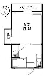 松田ハイツB[202号室号室]の間取り