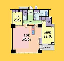 ブリリアマーレ有明タワー&ガーデン 32階2LDKの間取り