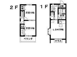 [テラスハウス] 埼玉県鴻巣市宮地1丁目 の賃貸【/】の間取り