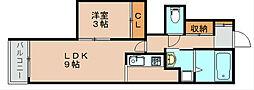 レイナス箱咲[2階]の間取り