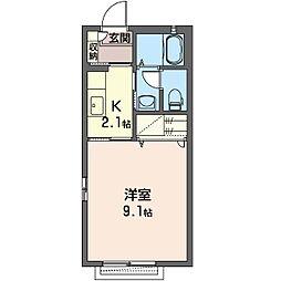セピアコートK[2階]の間取り