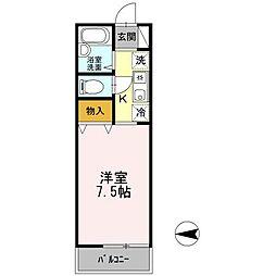 東京都小金井市緑町1丁目の賃貸アパートの間取り