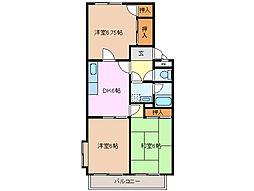 サンライト白須賀 B棟[2階]の間取り