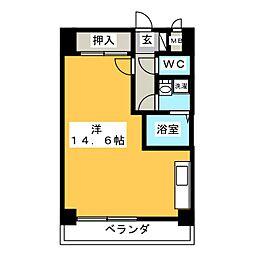 愛知県稲沢市北市場本町4丁目の賃貸マンションの間取り