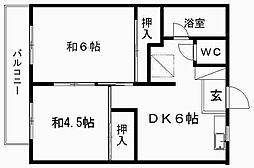 池重マンション[202号室]の間取り
