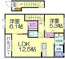 ディアスガーデン二番館[2階]の間取り