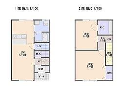 栃尾アパート ラフォーレ仲子 1階2LDKの間取り