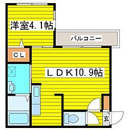 札幌市営東豊線 さっぽろ駅 徒歩5分の賃貸マンション 4階1LDKの間取り