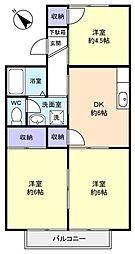 メゾン石神[2階]の間取り