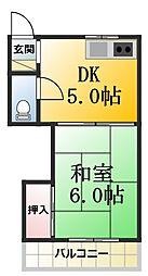 第1司荘[11号室]の間取り
