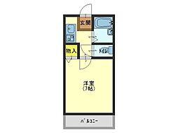 ロジュマン海塚II[2階]の間取り